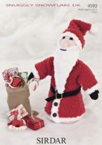 Sirdar Snuggly Snowflake DK - 4593 Father Christmas Toy Knitting Pattern